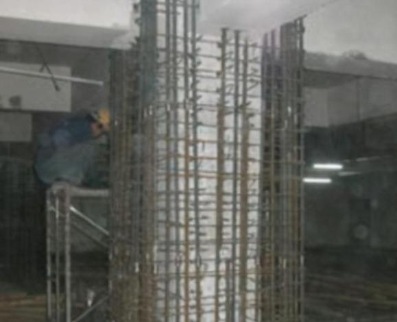 楼房柱子受损包钢加固施工方案