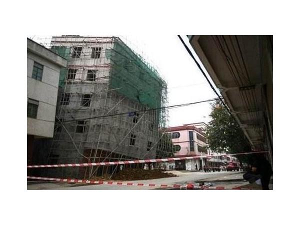 房屋倾斜由地基下沉所导致需安全检测